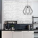Prevently Simulation Ziegel Wandaufkleber 3D Tapete Mauerwerk antiken Effekt selbstklebende Aufkleber Home Improvement Home Dekoration (Weiß)