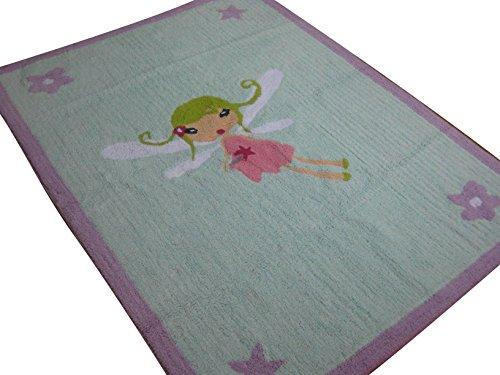 Aratextil Fee Kinder Teppich, Baumwolle, mehrfarbig, 120x 160cm