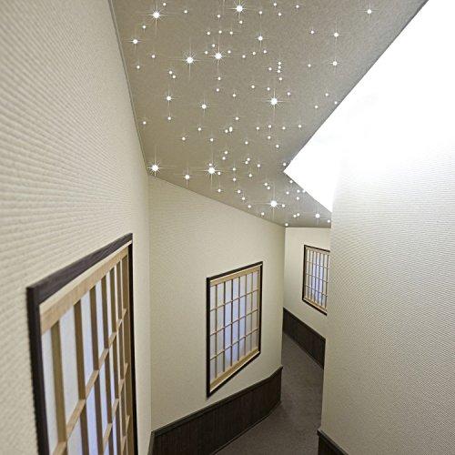 """PIXLUM - LED Sternenhimmel Deckenleuchte Lampe Deckenlampe Nachtlicht, Starterset 2"""" warmweiß (Foam)"""