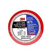 3M 471IW-R50-D 471 Hochwertiges Weich-PVC-Klebeband, 50 mm x 33 m, Rot