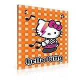 Tapeto Kids Lienzo Hello Kitty Rock Naranja–XXL–100x 75cm