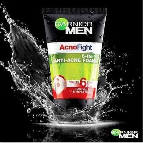 1x100 ml. Garnier Men Foam Acno Fight Anti Acne 6 in 1 Face wash Oil Control  available at amazon for Rs.2025