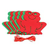 #7: Generic Cute Frog Banner Felt Pennant Bunting Flag for Christmas Party Home Mall Decor Red and Green