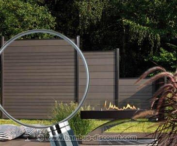 Sichtschutzzaun System Bambus