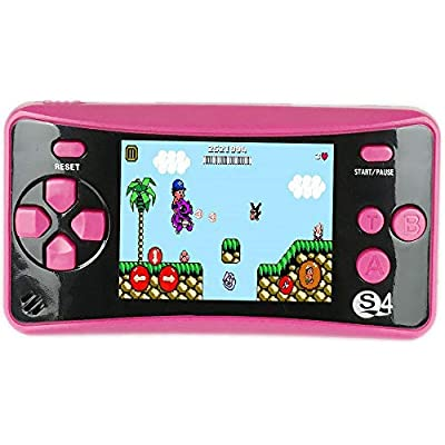 QINGSHE Retro Portable Game Console,182 Games Built in 2.5 Inch Screen Handheld Game Console for Kids, Arcade Classic TV Output Video Game Player, Best Birthday Gift for Children