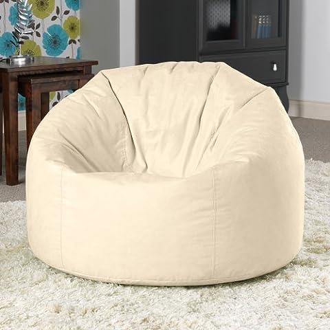 Luxuriöser XL Sitzsack Sessel in Wildlederoptik NATUR – Extra Large Sitz Sack von Bean Bag Bazaar®
