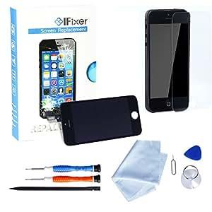 IFixer für iPhone 5 LCD Display Bildschirm Ersatz Touchscreen Front Glas Ersatzteile-Set Werkzeugset inklusive Digitizer-Professionell Reparatur-Flussdiagramm Schwarz