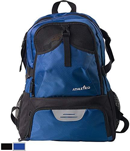 Atletico Nacional Fußballtasche - Rucksack für Fußball, Basketball & Volleyball Inklusive Separate Cleat und Ball Holder - für Jugendliche, Kinder, Mädchen, Jungen, Männer & Frauen (Blau) -