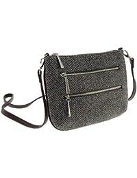 612b95da7fdc Ladies 100% Wool Harris Tweed Purple Herringbone Shoulder Bag Col 7 by Glen  Appin
