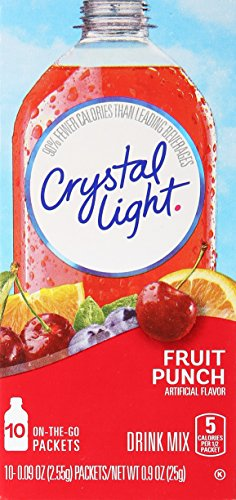 Crystal Light On The Go Fruit Punch Drink Mix - ( Single Box ) (Light Crystal Mix)