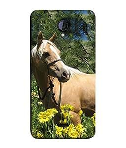 PrintVisa Designer Back Case Cover for Micromax Unite 2 A106 :: Micromax A106 Unite 2 (Green Flowers Chetak Running Horses Farm House)