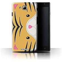 Carcasa/Funda STUFF4 dura para el LG Optimus L9 II/D605 / serie: Efecto de la puntada de animales - Tigre
