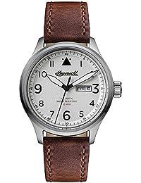 Ingersoll Men's The Bateman Quartz Watch with Weiß Dial andBraun Leather Strap I01801