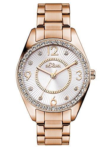 s.Oliver Damen-Armbanduhr Analog Quarz SO-3215-MQ