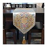 JUNYZZQ Tischläufer Esstisch Klassischen Chinesischen Couchtisch Flagge Xianglong Stickerei Bett Schwanz Flagge Dekoration Tv Kabinett Flagge 30X210