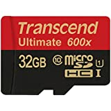 Transcend 32GB Ultimate microSDHC Class 10 UHS-I Memory Card with Adapter