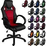 """RACEMASTER® Chaise de Gamer bureau style Racing """"GS Series"""", rouge, vérin à gaz certifié SGS, 20 coloris disponibles fauteuil de bureau"""