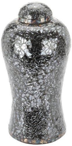 Urns UK 13-inch Aluminium Metal Lynton Mosaic Urn, Blue/ Black