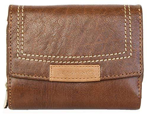 Damen Kompakte-Größe Braunes Leder Portemonnaie - Geldbörse Lozano