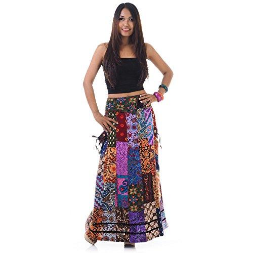 Langer Hippie Batik Patchwork Zigeuner Rock (Zigeuner Rock Kleidung)