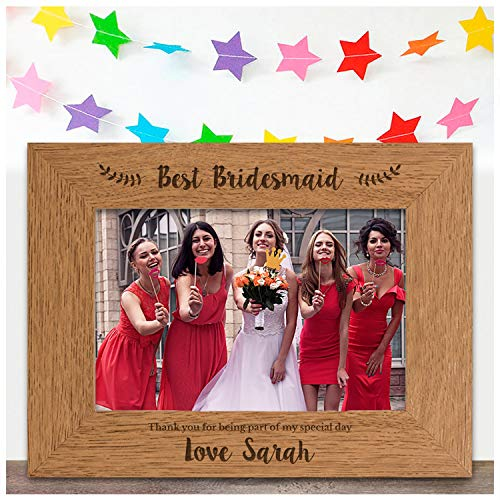 The Best Bridesmaid ENGRAVED PER...