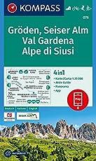 Gröden, Seiser Alm, Val Gardena, Alpe di Siusi: 4in1 Wanderkarte 1:25000 mit Panorama und Aktiv Guide inklusive Karte zur offline Verwendung in der ... Langlaufen. (KOMPASS-Wanderkarten, Band 76)