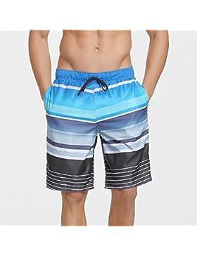 Pantalones de playa pantalones de hombre pantalones boy troncos de natación playa pantalones cortos de gran tamaño...