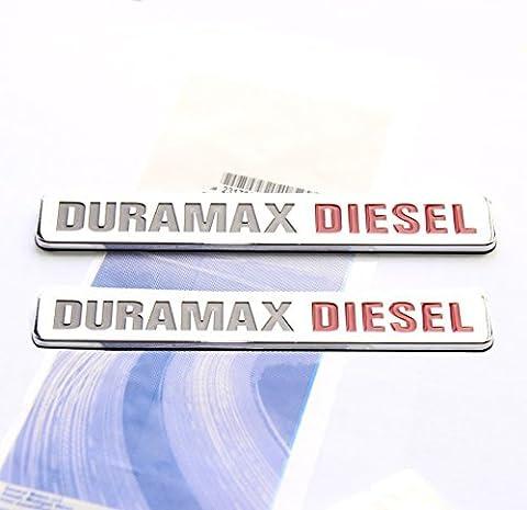 Yoaoo® 2x OEM Duramax Diesel Allison Truck Emblem Badges SILVERADO 2500 3500 HD GMC SIERRA Chrome by Yoaoo-GM