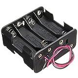 SO-buts 1 Stück Rücken an Rücken Batteriefach 8 AA 2A Batterie 12 V Halter Black Box mit Draht (Schwarz)