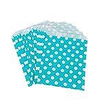 Yudanwin Candy snack sacchetto di carta a pois stampato dolce torta festa di nozze forniture luce blue-1set