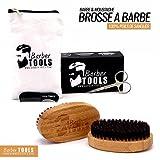 ✮ BARBER TOOLS ✮ Spazzola per barba e baffi di grande qualità. Con una forbice e un pettine di precisione e un'apposita custodia con chiusura zip. immagine
