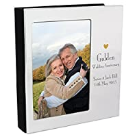 The Big Card Company Personalised Decorative Golden Anniversary Photo