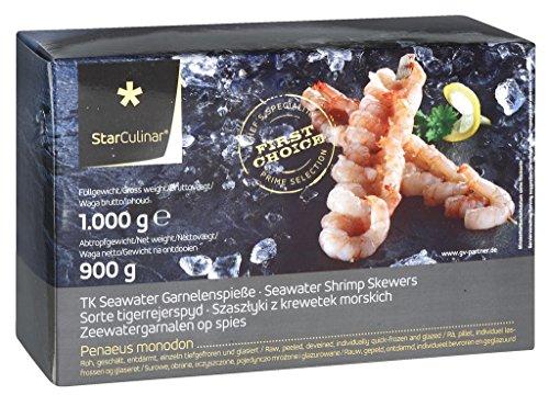 Star Culinar - Black Tiger Garnelenspieße 10 Stück TK - 900g/1000g
