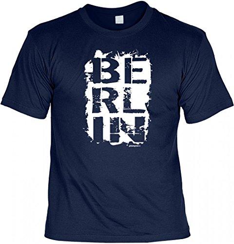 T-Shirt Motivshirt - Berlin - als Geschenk für den Berliner mit der Liebe zur Heimat Navy-Blau