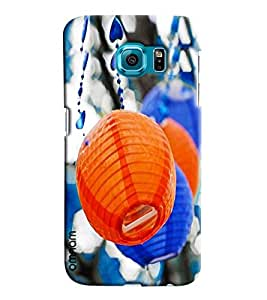 Omnam Orange Lamp Shade Pattern Printed Designer Back Case Samsung Galaxy S6