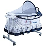 #8: Baybee LittleNest Bassinet Cradle with Mosquito Net-Canopy and Wheels-