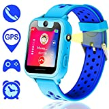Kids GPS Smartwatch, Smart Watch anti-perso per bambini Bambina compatibile per iPhone Android (Blu)