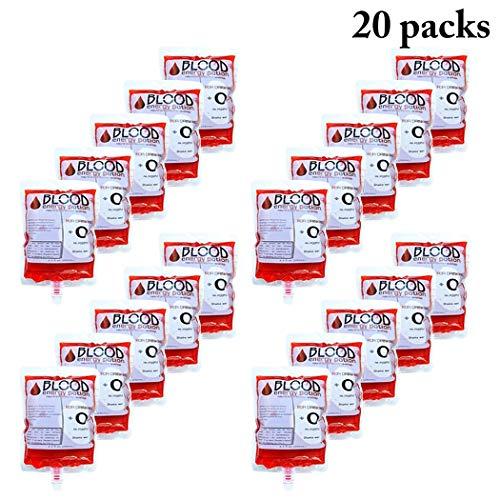 JUSTDOLIFE 20PCS Flask Kit Concealable Wiederverwendbare Plastikflasche Schnapsbeutel für Halloween