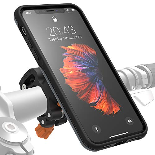 Morpheus M4s Bike Kit für iPhone XS Max, Fahrrad- Halterung & Hülle, Carbon-Fiber Mount & iPhone-Case (XS Max grau)