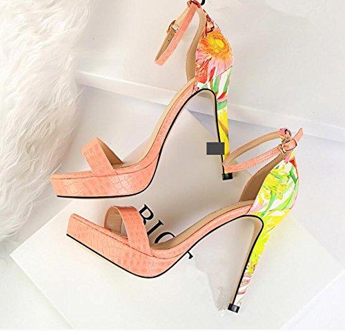 LGK&FA Sandales Femmes Talon Fine Pour LÉté High Heels 37 Pink
