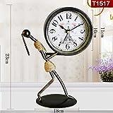 QFQ Europäische Antike Stumme Tricolor Uhr Wohnzimmer Kreative Mode Persönlichkeit Retro Dekoration
