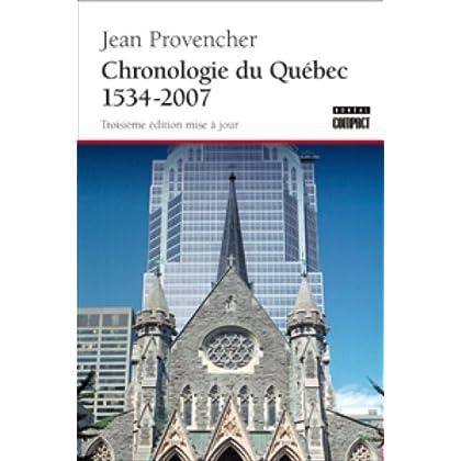 Chronologie du Québec, 1537 à 2007