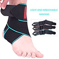 Ankle Support, Beskey Adjustable Ankle Brace Breathable Nylon Material Super Elastic and Comfortable One Size Fits all, Perfect for Sports, Protects Against Chronic Ankle Strain, Sprains Fatigue etc