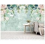 Pvc Kleine Frische Handgemalte Aquarellmalerei Der Kundenspezifischen Tapete Blüht Gartenwandhintergrundwand 3D 200x140cm