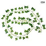 GUOYIHUA Kunstpflanze verlässt Rebe Efeu Seiden Grün