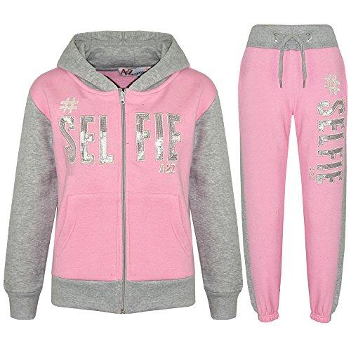 A2Z 4 Kids® Kinder Mädchen Jungen Designer - T.S #Selfie Baby Pink & Grey 13 -