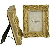"""TWINPACK Shabby Chic Style Very Ornate Gold Photo Frames for a 6""""x4"""" (152x102mm) Picture - Chelsea by Sixtrees."""