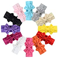 ZaBaYa Baby Girls Organic Cotton Headbands Set (Princess Knotted Bow Set (12 Pcs))