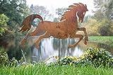 KUHEIGA Gartenstecker Pferd Edelrost, Rost H: 60cm Pflanzstecker Gartenstab Rostdeko