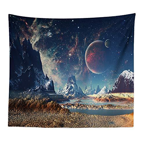 und die Vereinigten Staaten Sternenhimmel Mond Wohnzimmer Schlafzimmer Tapisserie Home Decoration 3 180x230cm ()